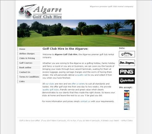 Algarve Golf Club Hire