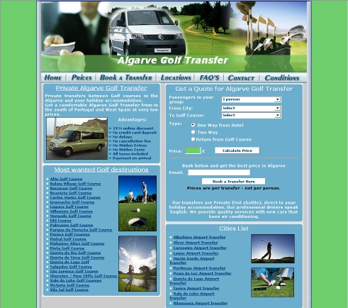 Algarve Golf Transfer