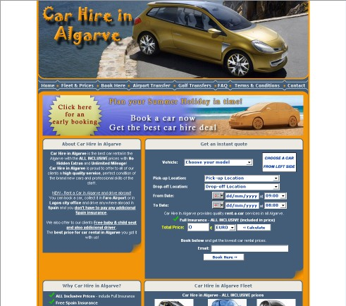 Car Hire In Algarve