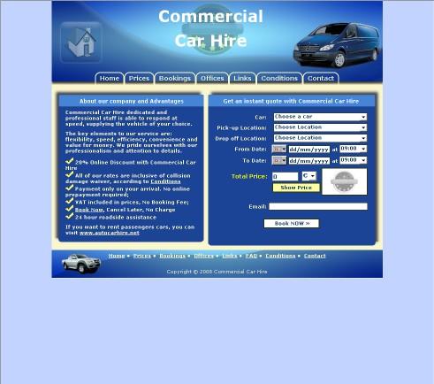 Commercial Car Hire